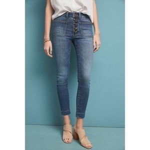 Anthropologie Pilcro High-Rise Denim Leggings